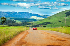Street damage on a country road. In South Africa Royalty Free Stock Photo