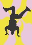 Street dance. A illustration of a man doing street dance stock illustration