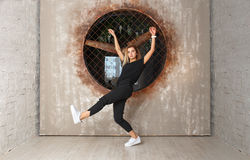 Street dance girl dancer Stock Image