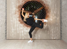 Street dance girl dancer Royalty Free Stock Photo