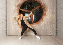 Street dance girl dancer Royalty Free Stock Photography