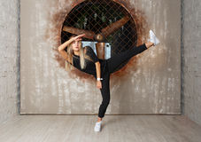 Street dance girl dancer Stock Images