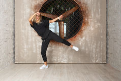 Street dance girl dancer Royalty Free Stock Images