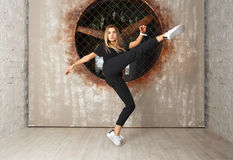 Street dance girl dancer Stock Photography