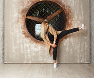 Street dance girl dancer Stock Photo