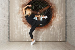 Street dance girl dancer Royalty Free Stock Image