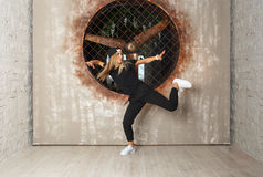 Street dance girl dancer Royalty Free Stock Photos