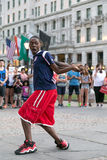 Street Dance Perfomance in Grande Army Plaza, New York City Stock Image