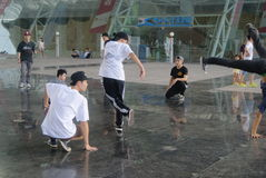 Street dance rehearsal, in China Stock Photos