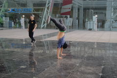 Street dance rehearsal, in China Royalty Free Stock Photography