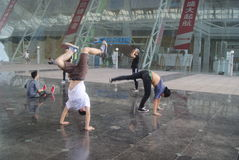 Street dance rehearsal, in China Royalty Free Stock Photos