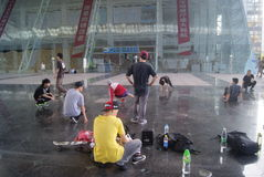 Street dance rehearsal, in China Royalty Free Stock Images