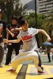 Street Dancer. A street dance is a dance style—regardless of country of origin—that evolved outside dance studios in any available open space such as streets Royalty Free Stock Photography