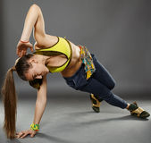 Street dancer doing moves Stock Image