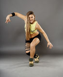 Street dancer doing moves Royalty Free Stock Images