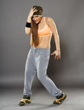 Street dancer doing moves Stock Photos