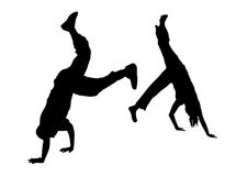 Street Dancer Fight 2 royalty free stock photos