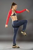 Street dancer girl doing moves Stock Image