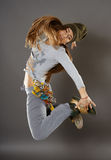 Street dancer girl doing moves Royalty Free Stock Photo