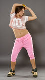 Street dancer girl doing moves Stock Photo