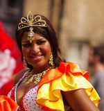 A street dancer at London Notting Hill Carnival royalty free stock images