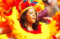 A street dancer at London Notting Hill Carnival Stock Photos