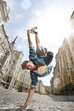 Street dancer. Man dancing Hip-hop in street Royalty Free Stock Images