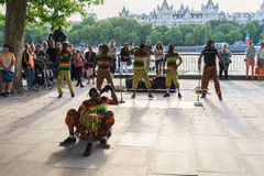 Street dancer outdoor Royalty Free Stock Images