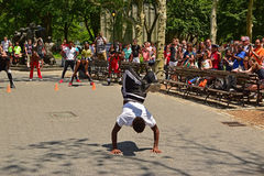 Street dancer performing in Battery Park New York Royalty Free Stock Photo