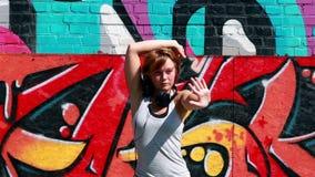 Street dancer stock video footage