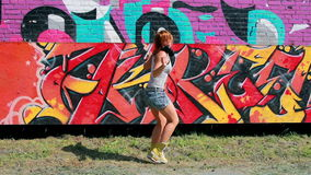 Street dancer stock footage
