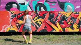 Street dancer stock video