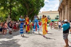 Street dancers in Old Havana Royalty Free Stock Image