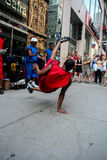 Street dancers stock images