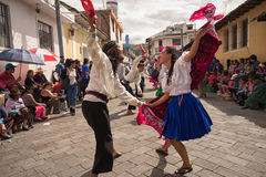 Street dancers performing in Ecuador Stock Photo