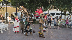 Street dancers in Valladolid city Stock Images