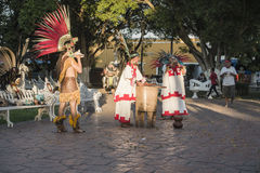 Street dancers in Valladolid city Royalty Free Stock Photography