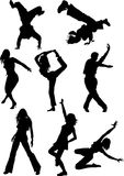 Street dances stock illustration