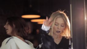 Street dances from two charismatic girls.  stock video footage