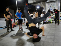 Street Dancing B-Boy Royalty Free Stock Images