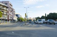 Street Dar es Salaam. Street with traffic in a residentual area. Dar es Salaam, Tanzania; Africa Stock Images