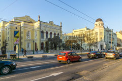 In the street of Debrecen in Hungary Royalty Free Stock Photo