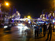 Street decorated for Christmas in mumbai Stock Image