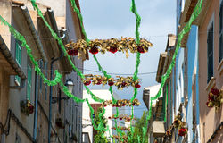 Street decorated. Stock Images