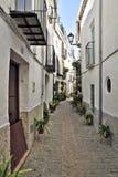 Street decorated with plants. Iznatoraf. Andalusia Royalty Free Stock Photo