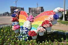 Street decoration in Astana Stock Photography