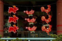 Street decoration in Chinatown in Singapore Stock Images