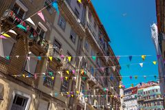 Decoration for street festival. royalty free stock photography