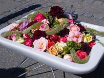Street decoration flowers in a sink Stock Photo