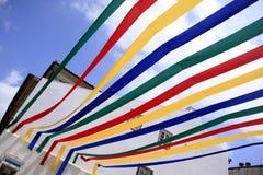 Street decoration for local festivities. Viana do Castelo, Portugal Stock Photography